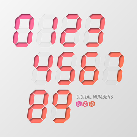 digital indicator: Digital numbers set
