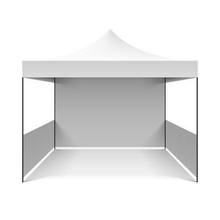 camping tent: White folding tent