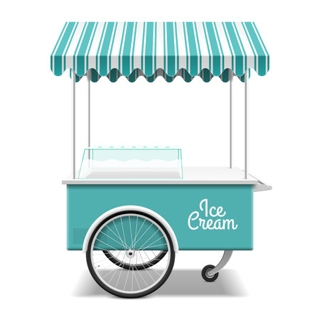 sidewalk sale: Ice cream cart
