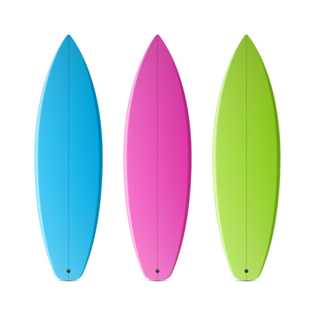Colored surfboards Vector