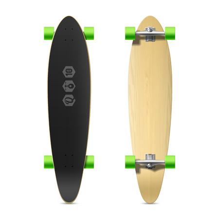 skatepark: Photorealistic longboard, skateboard