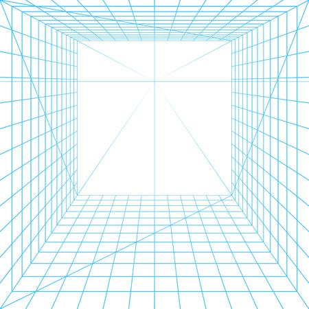 arquitectura: Cuadrícula de perspectiva Vectores