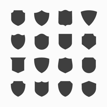Shield icons Иллюстрация