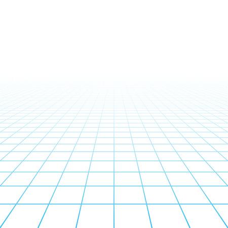 perspektiv: Perspektiv rutnät bakgrund Illustration
