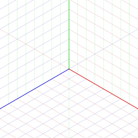 graphing: Isometric projection background