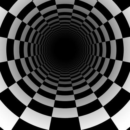 chess: Fondo abstracto túnel ajedrez con efecto de perspectiva