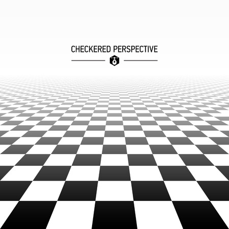 Checkered perspective background Vector