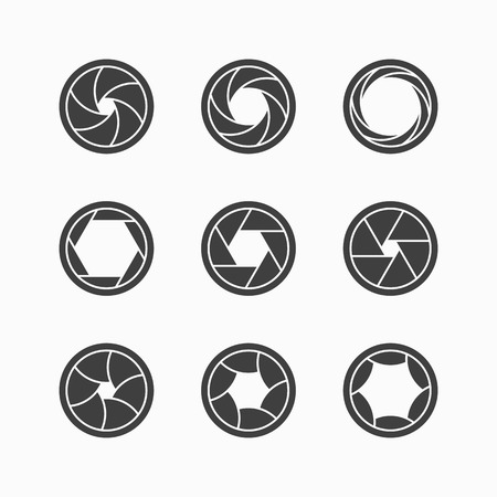 focal: Camera shutter icons