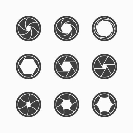 diaframma: Icone otturatore della fotocamera