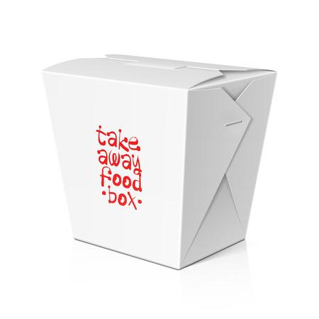 chinese fast food: Comida para llevar, plantilla de la caja de fideos