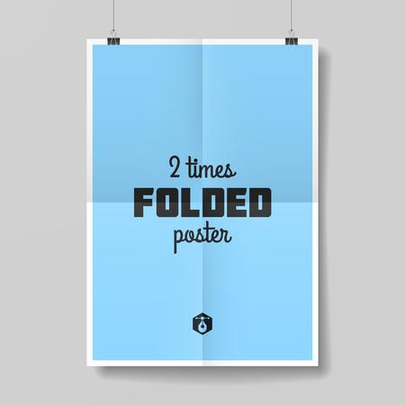 papeles oficina: Dos veces doblado plantilla del cartel