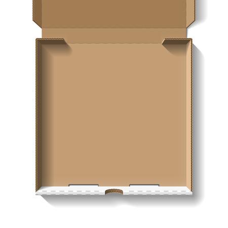 開かれたピザの箱