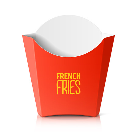 French fries paper box Illustration