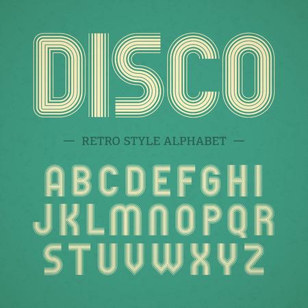 Retro style alphabet  イラスト・ベクター素材