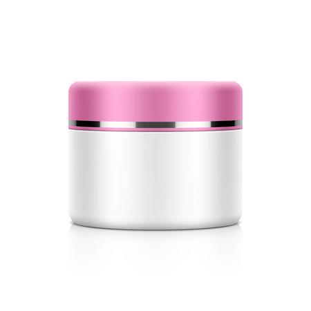 beaut� esthetique: L'emballage cosm�tique, cr�me, poudre ou mod�le de pot de gel Illustration