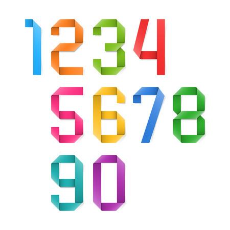 cyfra: Kolorowe numery origami