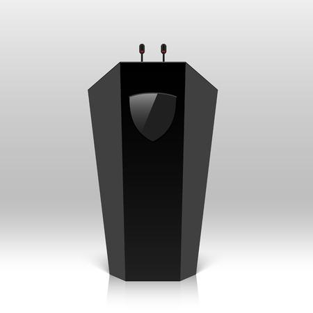Rostrum, podium, tribune with microphones Illustration