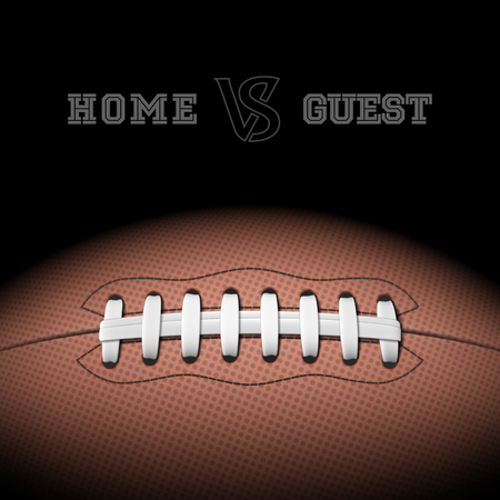 football tackle: American football with room for text Illustration