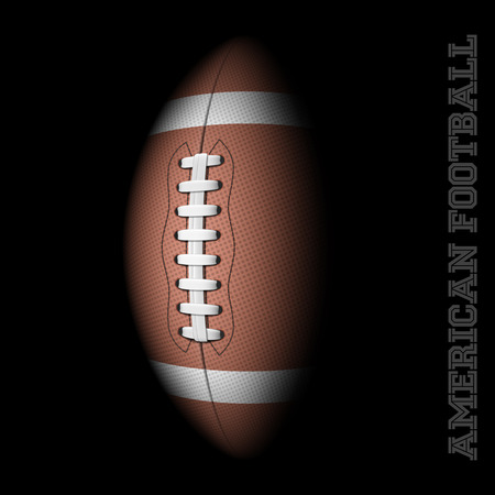 footballs: American football on black Illustration