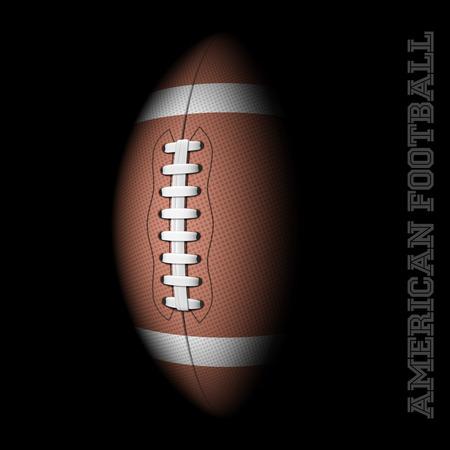 American football on black Stock Illustratie