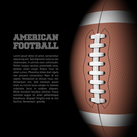 room for text: American football with room for text Illustration
