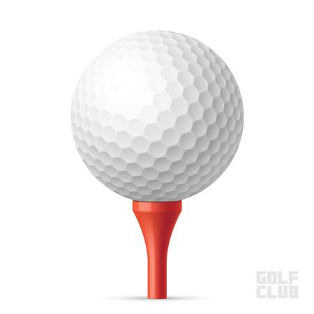 pelota de golf: Pelota de golf en Red tee
