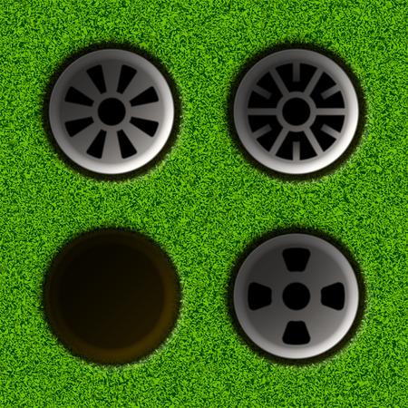 ゴルフの穴