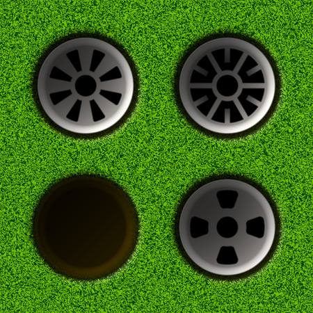 play golf: Golf hole