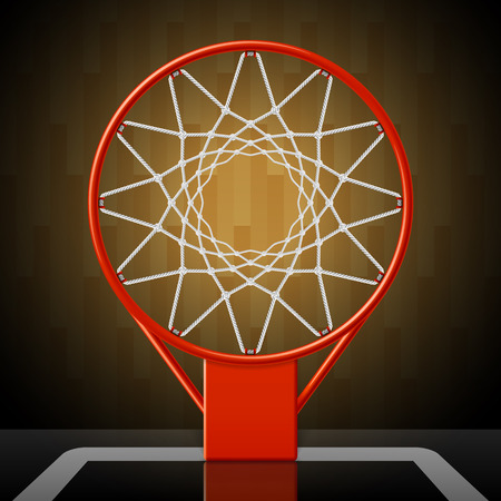 Basketball hoop, top view Vector
