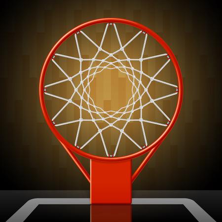 Basketbalring, bovenaanzicht