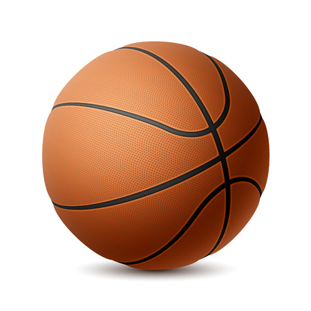 baloncesto: Baloncesto en blanco Vectores