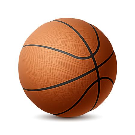 Basketbal op wit Stock Illustratie