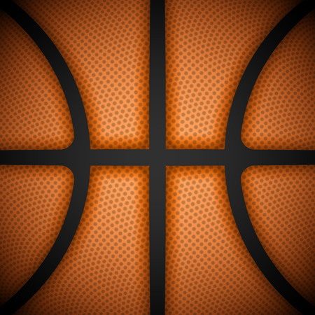 Basketball background, close-up view Vector