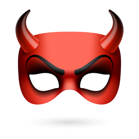 diavoli: Maschera del diavolo Vettoriali