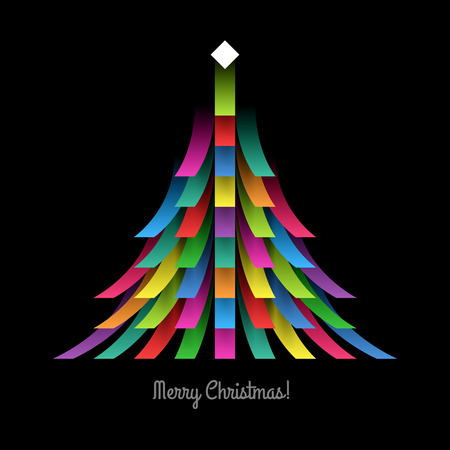 a holiday greeting: Christmas Tree Illustration