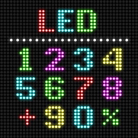 led display: LED display numbers Illustration
