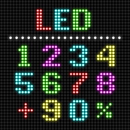 led: LED display numbers Illustration