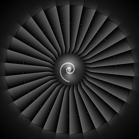 turbine engine: Jet engine turbine blades