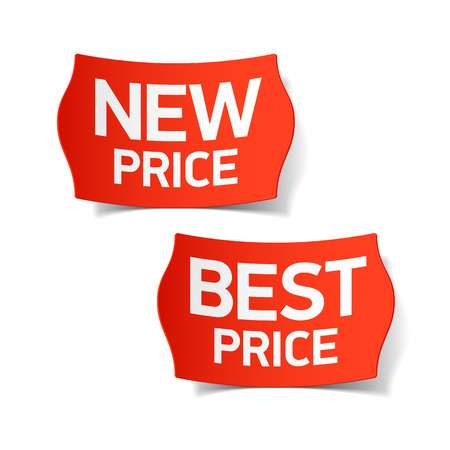 tag: New and best price labels