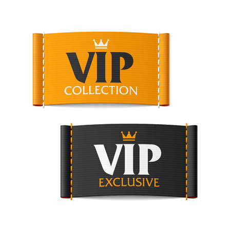 fabric label: VIP collection and VIP exclusive labels