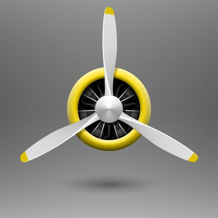 Vintage aereo elica con motore radiale Vettoriali