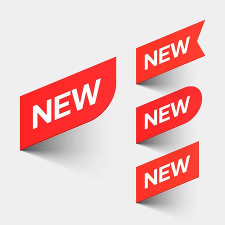 bannière business: Signes d'une nouvelle Illustration