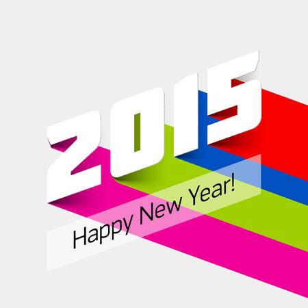 frohes neues jahr: Frohes neues Jahr 2015 Karte Illustration