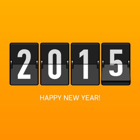 new Year: Felice anno nuovo 2015 carta Vettoriali
