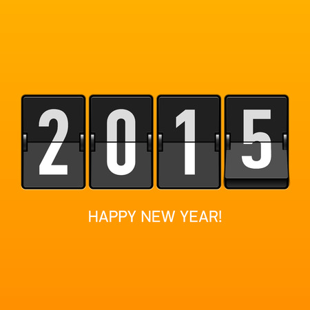 new year: Happy new year 2015 card