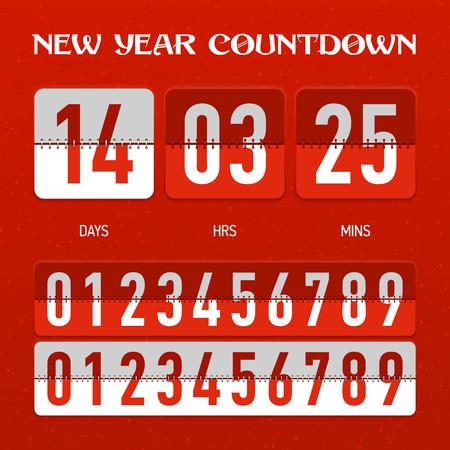 Nieuwjaar of Kerstmis countdown timer
