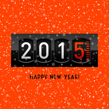 New year 2015 counter Vector