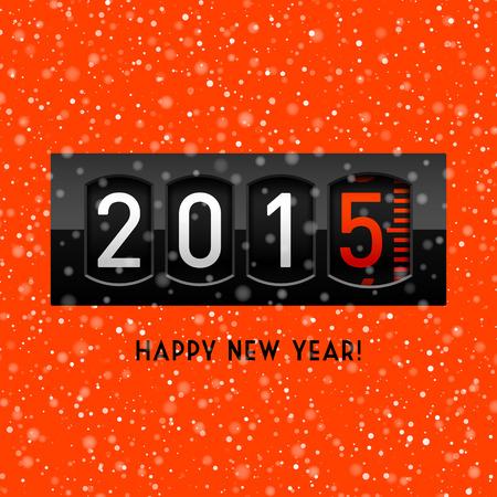 nouvel an: Nouvel an 2015 contre Illustration