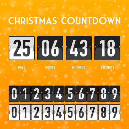 Christmas or New Year countdown timer Vector