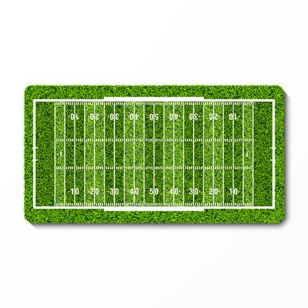 american football stadium: green grass american football field